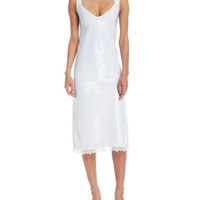 Derek Lam Sequined V-Neck Cocktail Dress
