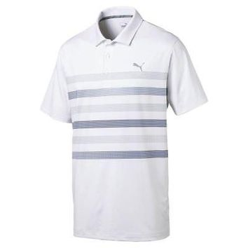 Licensed Golf New 2017 Puma  Center Stripes Mens Polo 573274