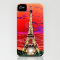Eiffel Tower after dark iPhone Case by JT Digital Art  | Society6