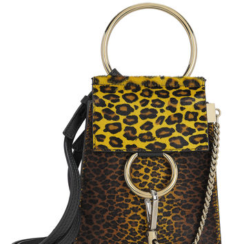 Mini Faye Leopard Haircalf Bracelet Bag