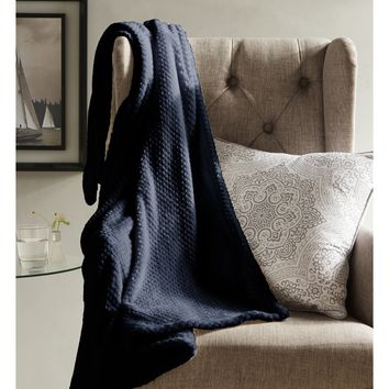 Marcella Textured Fleece Throw - Throws at Hayneedle