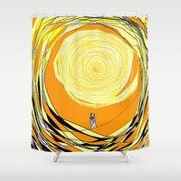 Walking on Sunshine Shower Curtain by RokinRonda