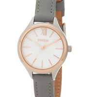 LMFON Fossil | Women's Mini Round Leather Watch | Nordstrom Rack