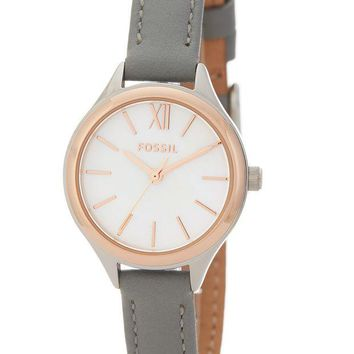 Fossil | Women's Mini Round Leather Watch