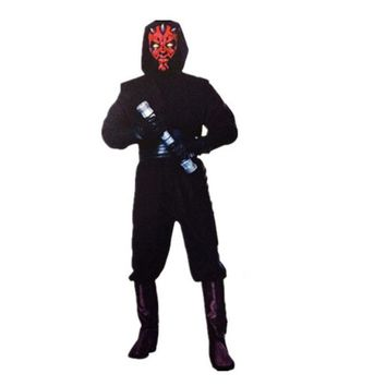 Man Star War Red Devil Costume Space Station Superhero Soldier Costumes Printed Jumpsuit Holiday Cosplay Clothing Fancy Dress