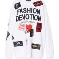 Fashion Devotion Printed Cotton Sweatshirt | Moda Operandi