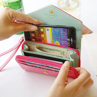 9 Colors Iphone Wallet,Leather Wallet,Clutch Wallet,Wristlet Wallet,Small Wallet,Fashion Cute Wallet,Women Phone Card Case