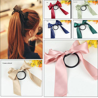 2016 Fashion jewelry Bow Hair accessories Ribbon Bowknot elastic headband for women bunny ear headband Elastic wreath Charm