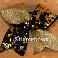 Reversible Sequin and Glitter Cheer Bow