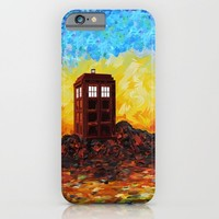 twilight British Phone booth iPhone 4 4s 5 5c 6, pillow case, mugs and tshirt iPhone & iPod Case by Three Second