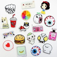 Cute cartoon creative home decorations Cute girl cake doraemon fridge magnets