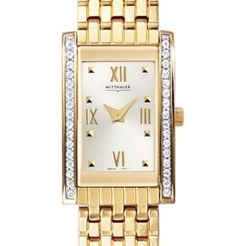 Wittnauer 12R17 Women's Diamond Yellow Gold Plated Bracelet Watch