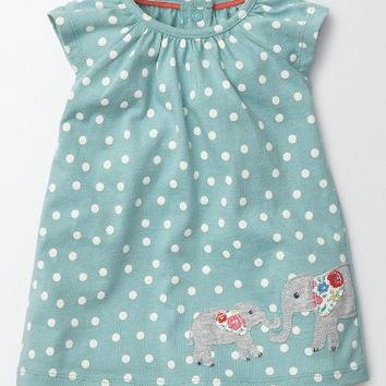 Mini Boden Summer Appliqué Dress (Baby Girls & Toddler Girls) | Nordstrom