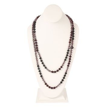 Longline Lava Crystal Necklace