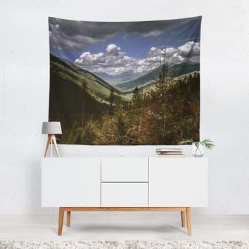 British Columbia Overlook, Mountains Wall Tapestry