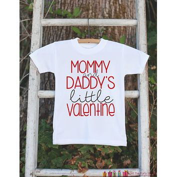Kids Valentines Day Outfit - Valentine's Day Onepiece or T-shirt - Mommy and Daddy's Little Valentine - Baby Girls or Boys - Valentine Shirt