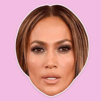 Surprised Jennifer Lopez Mask - Perfect for Halloween, Costume Party Mask, Masquerades, Parties, Festivals, Concerts - Jumbo Size Waterproof Laminated Mask