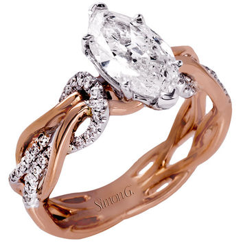 Simon G. Organic Style Intertwining Twist Marquise Diamond Engagement Ring