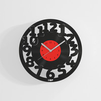 Wall clock from upcycled vinyl record (LP) | Hand-made gift for music lover | Home wall decoration, housewarming gift