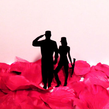 Salute, Guns and Love Cake Topper