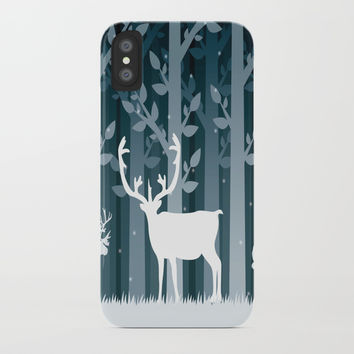 Snow Caribou iPhone Case by Knm Designs