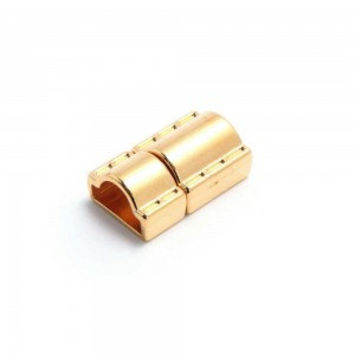 gold color click clasp for half round leather, bracelet items, leather supplies