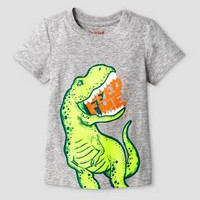 Baby Boys' Dinosaur Graphic T-Shirt Heather Gray - Cat & Jack™