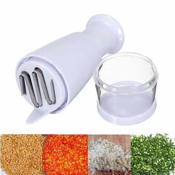 Pressing Slicer Peeler Dicer Vegetable Garlic Onion Food Chopper Cutter Innovative White Stainless Steel Kitchen Cooking Tools