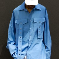 G-WHEN Unisex Oversized Sky Blue Shirt