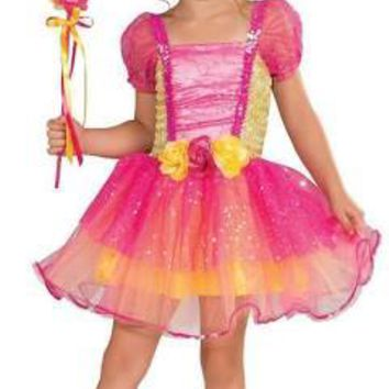 Pink and Yellow Garden Princess Costume with Rose accents