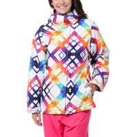 Empyre Girls Palisade White & Rainbow 10K Snowboard Jacket 2013 at Zumiez : PDP