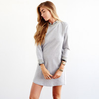 Gray Plaid Charlotte Dress by Loup for Of a Kind