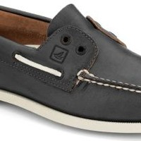 Sperry Top-Sider Authentic Original Laceless 2-Eye Slip-On Boat Shoe GrayLeather, Size 8.5M  Men's Shoes