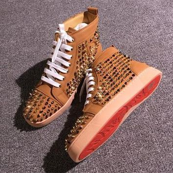 Cl Christian Louboutin Louis Spikes Style #1853 Sneakers Fashion Shoes - Best Deal Online