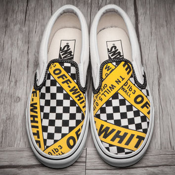 Trendsetter Vans x OFF-WHITE Old Skool Flats Sneakers Sport Shoes