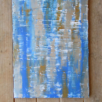 Blue Abstract Gold Wall Art Silver Abstract Blue Wall Art Si & Shop Blue And Silver Abstract Painting on Wanelo