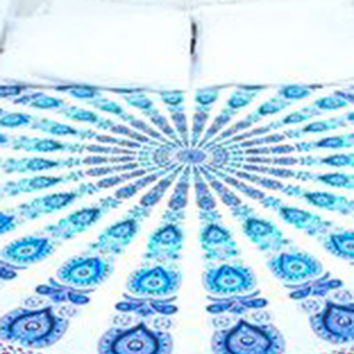 Mandala Blanket- Colorful Paisley with Tassels