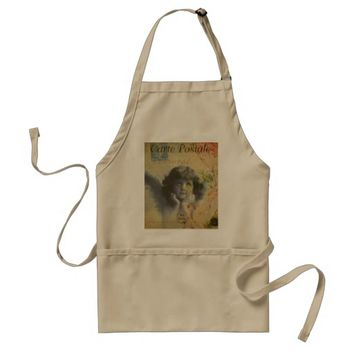 French Postcard Apron