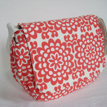 Messenger Bag Diaper Bag in Amy Butler by moxiebscloset on Etsy