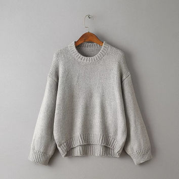 Fashion Batwing Sleeve Loose Knitting Sweater