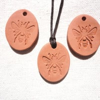 Bee Aromatherapy Essential Oil Diffuser Pendant, Terracotta eco-friendly Car Diffuser
