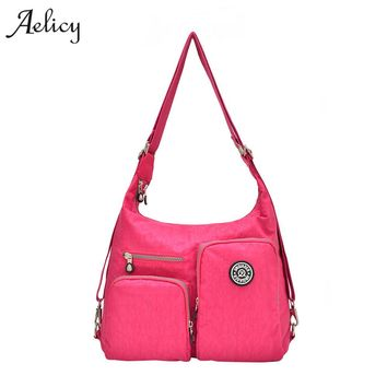 Aelicy Luxury Nylon Crossbody Women Bag Contrast Color Zipper Multi-Pockets Casual Women Small Shoulder Bags 9 Colors Travel Bag