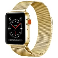 Replaceable Apple Watch Band 42mm Gold ,Original Milanese Loop Fully Magnetic Clasp Stainless Steel Mesh iWatch Band for Apple Watch Series 3 Series 2 Series 1 Sport & Edition (Gold, 42mm)