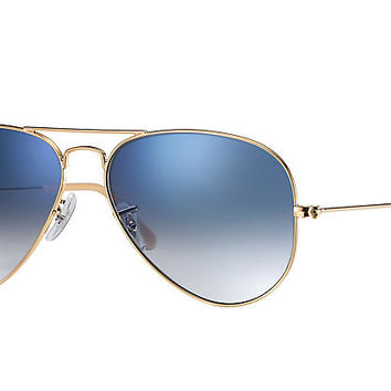 Ray-Ban AVIATOR GRADIENT Gold, Polarized Lenses - RB3025 | Ray-Ban® USA