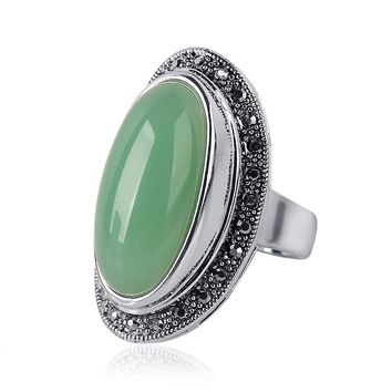 Oval Natural Stone Women's Rings