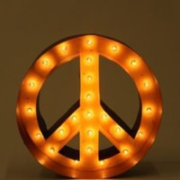 Peace Sign Marquee Light