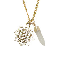 Gold Flower Of Life Passion Necklace