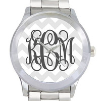 Monogram Watch Stainless Steel Personalized