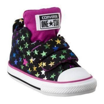 ICIKGQ8 toddler girl s converse one star stars hightop sneaker black