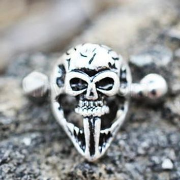 316L Stainless Steel Gothic Skull Mask Cartilage Ear Cuff Earring